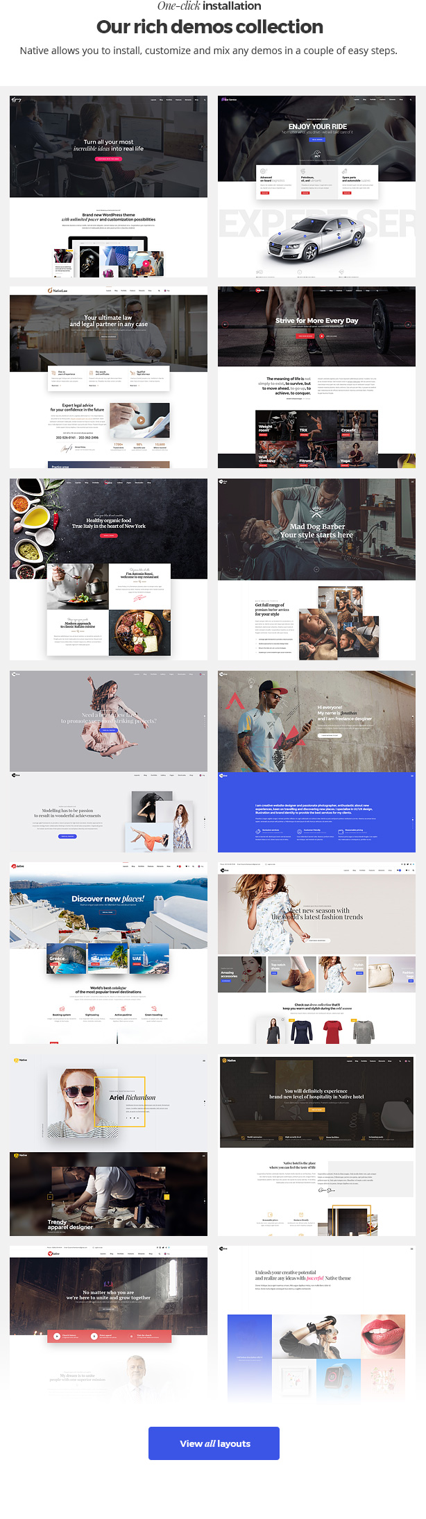 Native - Stylish Multi-Purpose Creative WP Theme - 8