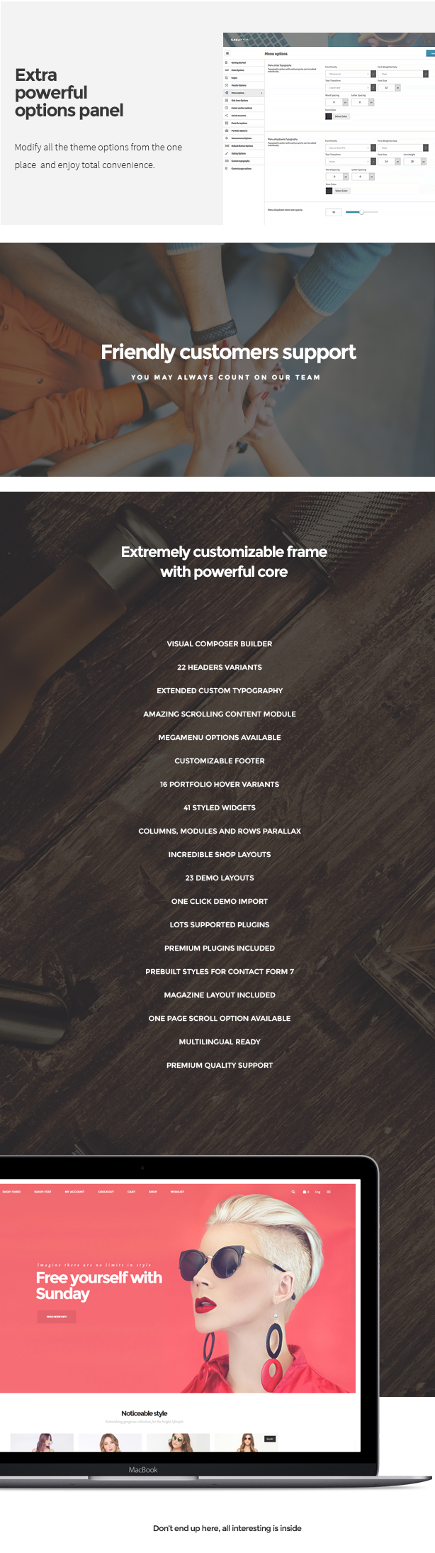 Sunday - Highly Functional Multifaceted WP Theme