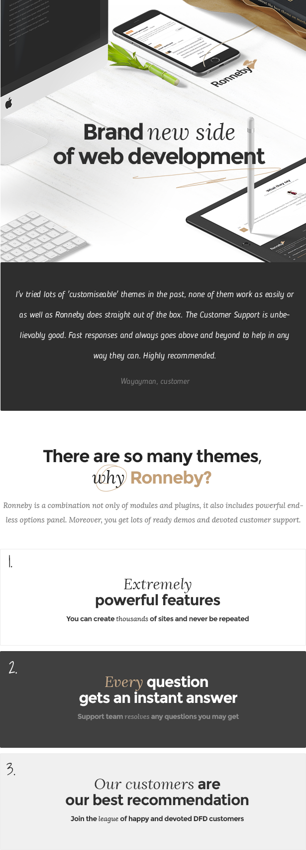 Ronneby - High-Performance WordPress Theme - 1