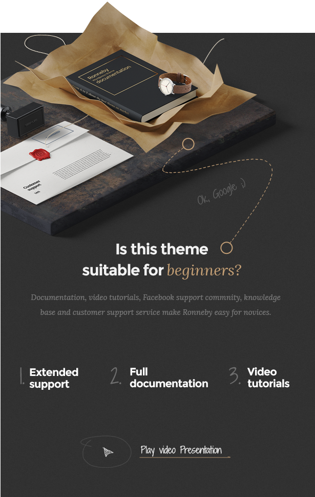 - video presentation - Ronneby – High-Performance WordPress Theme